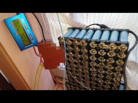 Mini Diy powerwall  First day of power production tests 140watt hrs in