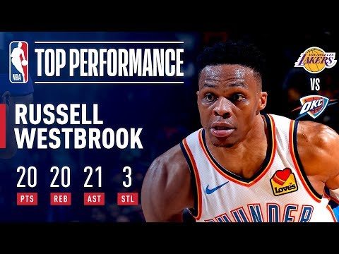 Russell Westbrook Becomes 2nd-EVER To Post 20p/20a/20r In A Game! | April 2, 2019 thumbnail