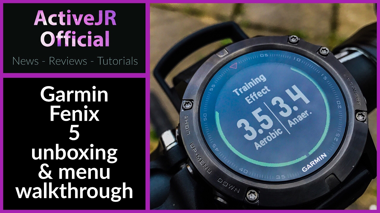 Garmin Fenix 5 unboxing setup and features overview - Best Fitness watch  2017
