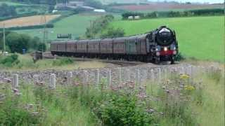(HD) 70013 Oliver Cromwell THE ROYAL DUCHY 1Z35 @ Combefishacre 12/8/2012
