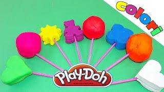 Imparare i colori per bambini! Pongo Play doh! Giocattoli e Sorprese!