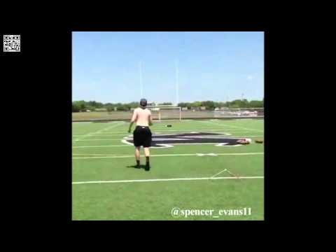 Baylor kicker Spencer Evans kicks a 75 yard field goal