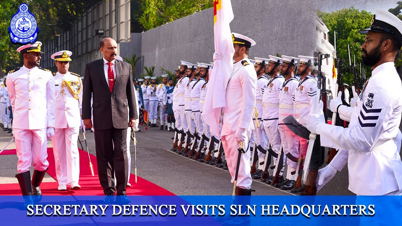 Secretary Defence Visits Sln Headquarters Youtube