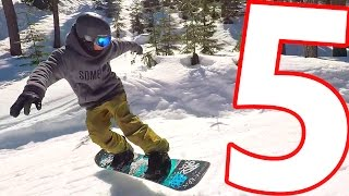 5 Snowboard Tricks in the Spring Terrain Park