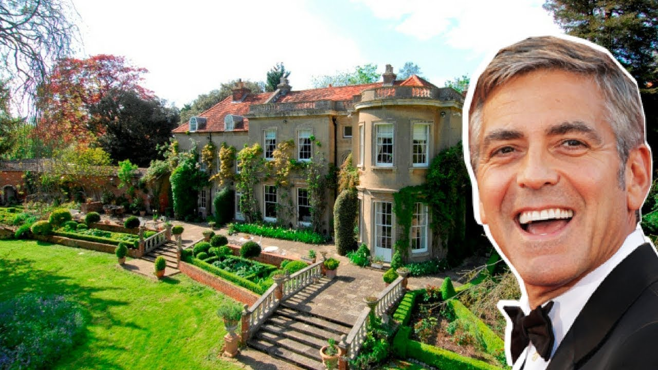 George Clooney Beautiful Mansion House Tour - YouTube