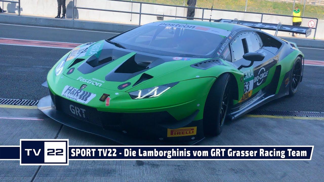 MOTOR TV22: Die Lamborghinis vom GRT Grasser Racing Team beim ADAC GT Masters Test in Oschersleben