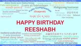 Reeshabh   Languages Idiomas - Happy Birthday