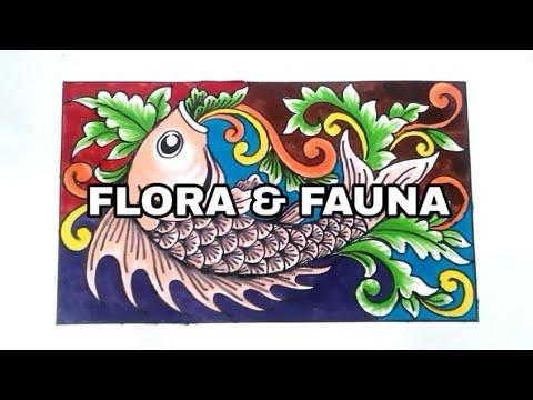 Menggambar Ragam Hias Flora Dan Fauna Youtube