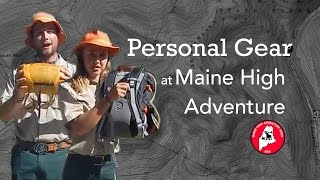 Personal Gear at Maine High Adventure