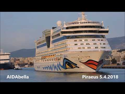 AIDAbella departure from Piraeus Port