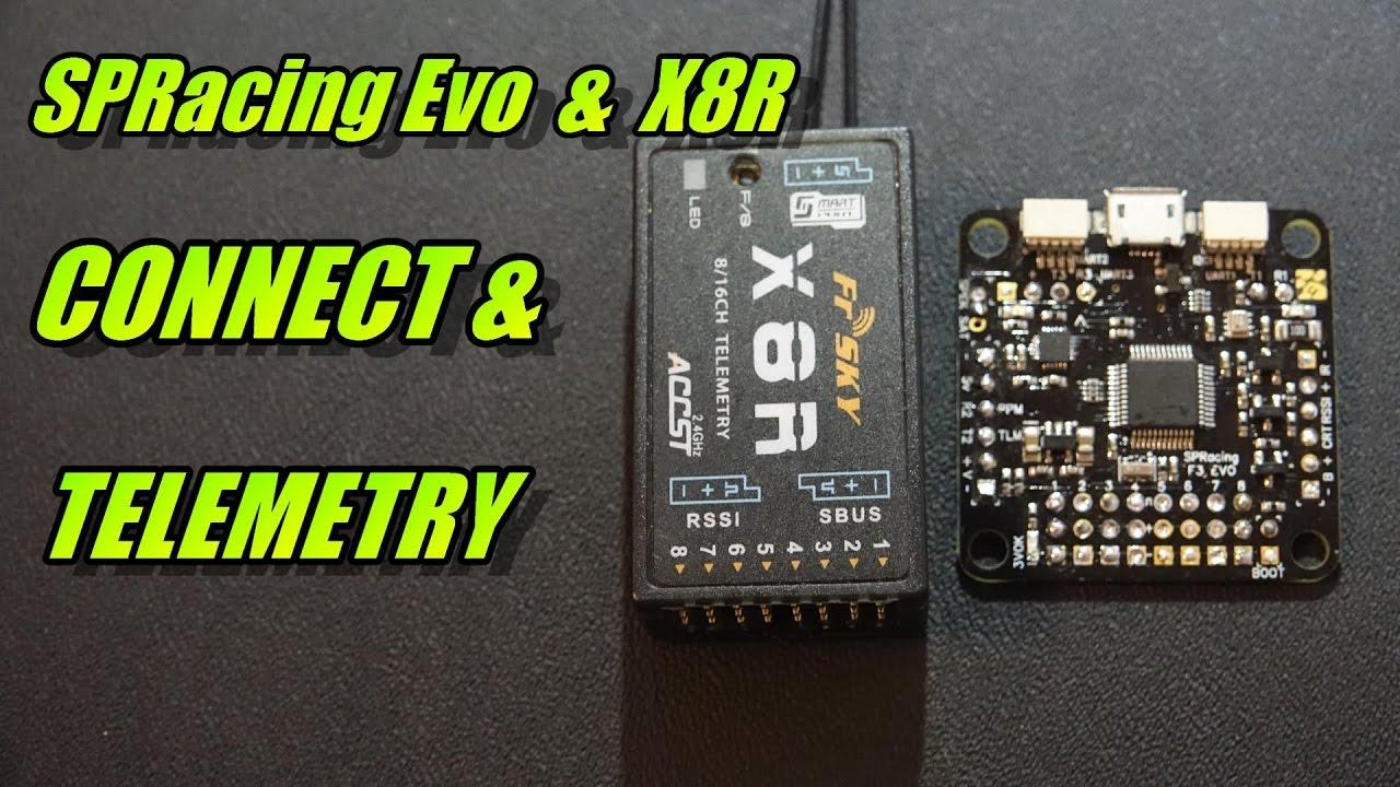 spracing evo & x8r: connect & telemetry
