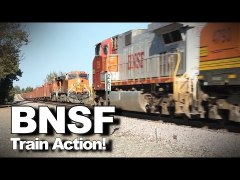 HD: Parade of super-long freight trains on BNSF Railway!