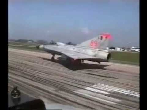 Saab J35 Draken Trainers Doing The Swedish Cobra Maneuver
