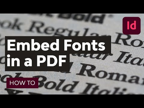 How to Embed Fonts in a PDF