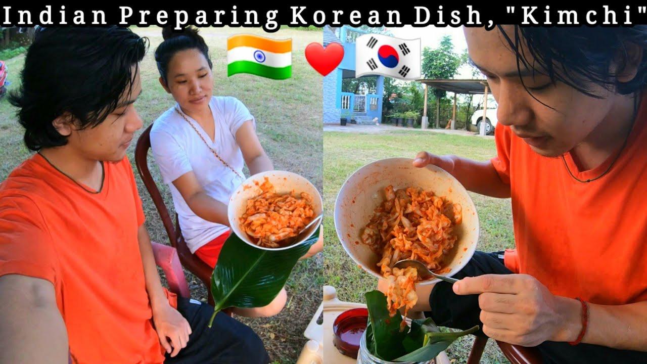 Korean Dish, KIMCHI 🇰🇷 In 3 Mins In LockDown : Easy Method   Lenzing Weekly   NorthEast Arunachal  