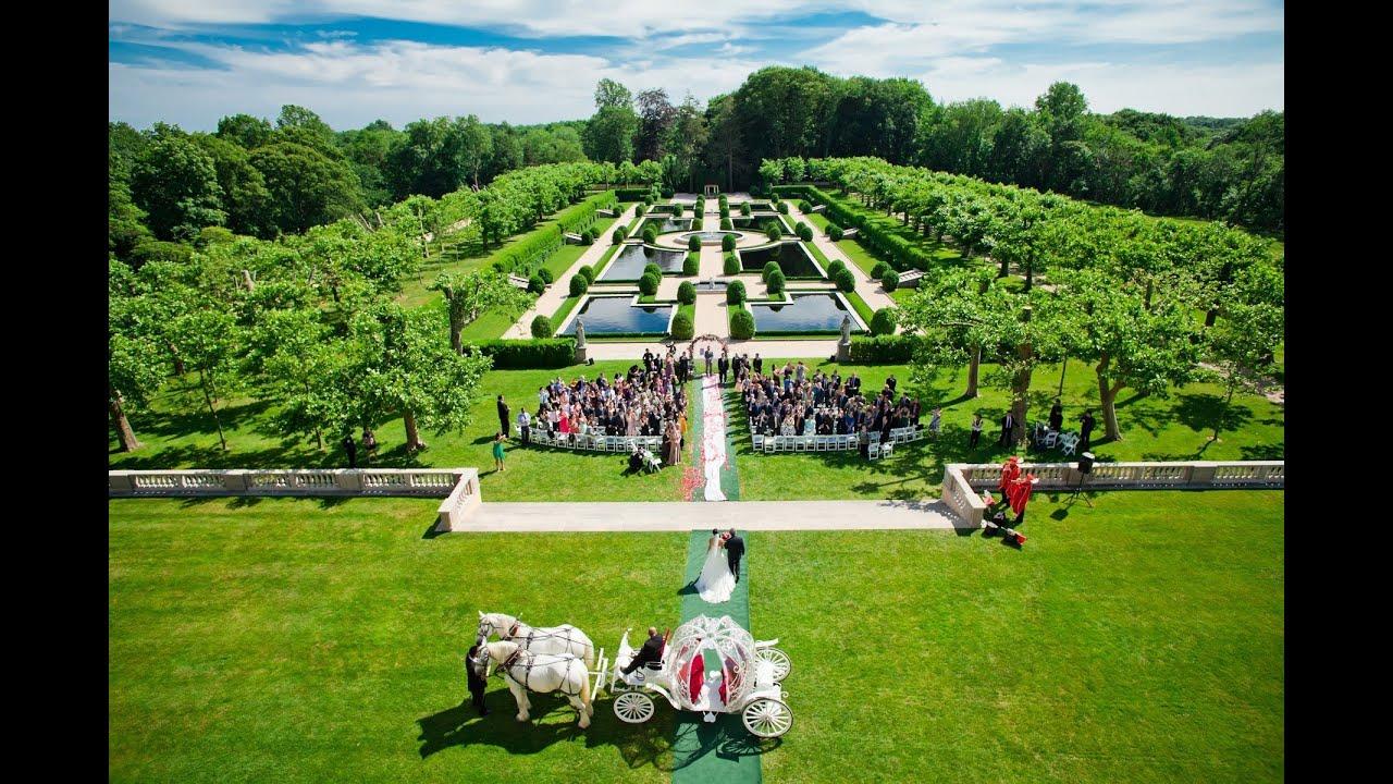 nolan and sylvias fairytale wedding in oheka castle ny