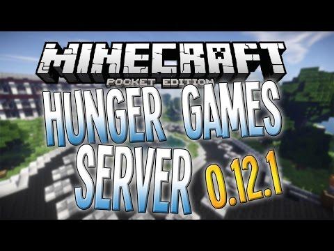 Minecraft PE 0.12.0/0.12.1 HUNGER GAMES SURVIVAL BETA SERVER!