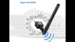 600 Mbps WiFi Adapter Wireless WiFi Dongle With External Antenna Unbox Review India Hindi