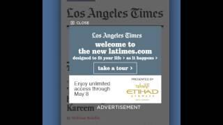 Responsive Site Demos, Mobile Interstitial