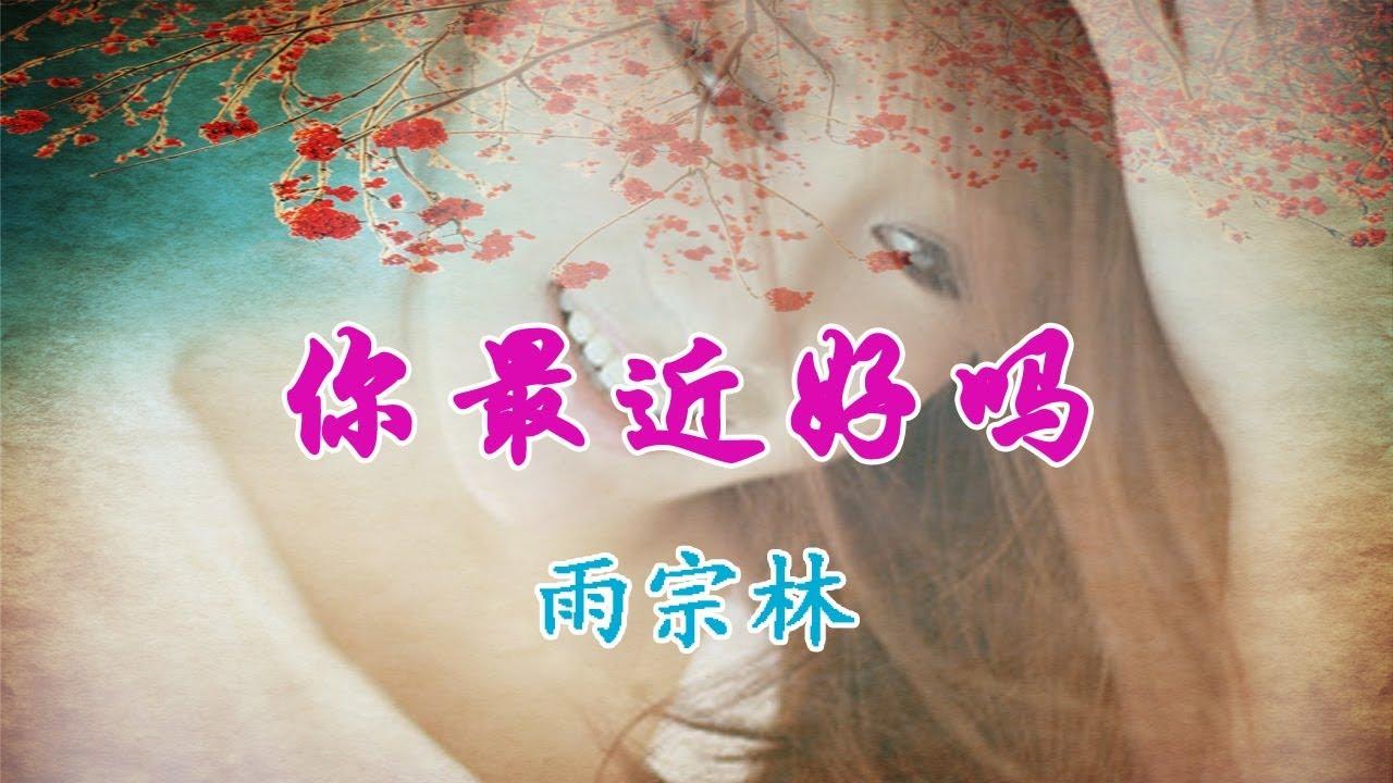 雨宗林-你最近好吗【对于过去我只能怀念 对于你只能避而不见】高清MV~动感歌词