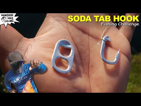 Soda Tab Hook Fishing Challenge DIY | Monster Mike