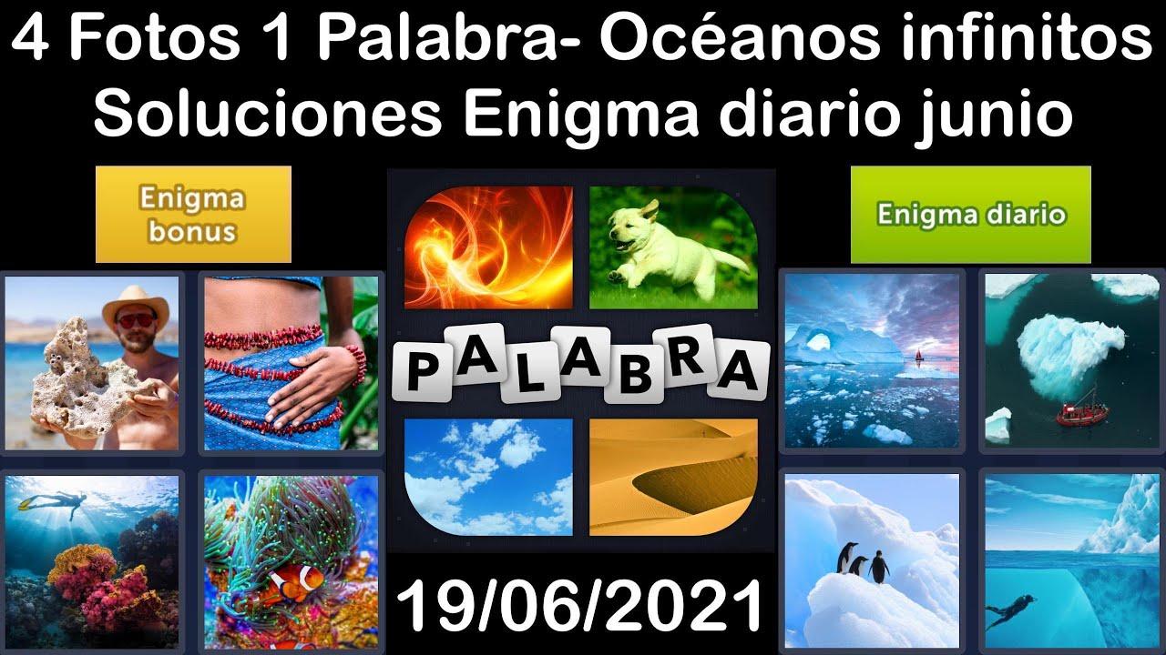 4 Fotos 1 Palabra - Océanos infinitos - 19/06/2021 - Solucion Enigma diario - junio de 2021