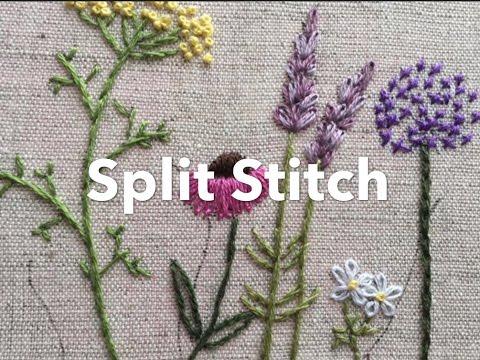 Embroidery Tutorial Split Stitch Chrissie Crafts Youtube