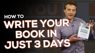 How to Write Your Book in Just 3 Days