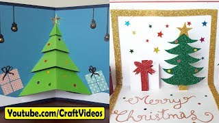 Easy Handmade Christmas Cards ideas for kids 2018