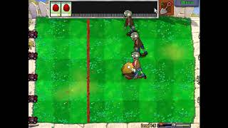 plants vs zombies - level 5-1 - game pc kids