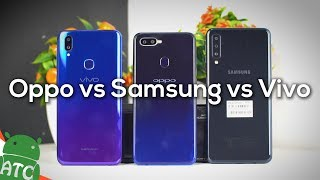Mid Range Battle - Oppo F9 vs Samsung A7 vs Vivo V11 | ATC