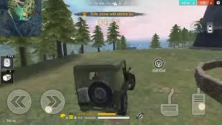 Battleground FREE FIRE!! 8kill by car!!!BOYAH!!!