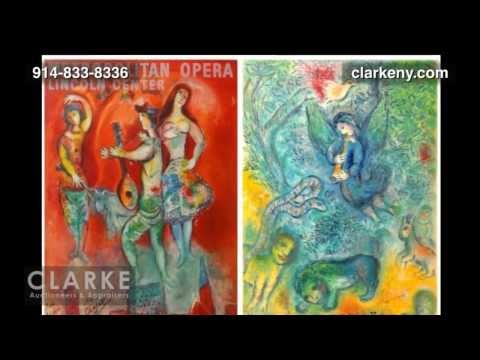 Post Auction | Marc Chagall Lithograph Posters  | Marc Chagall | Clarke Auction Gallery