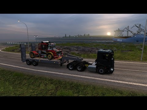 Euro Truck Simulator 2:  Episode 404B Scania Sport to Reykjavik (IS)