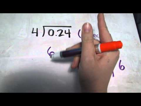 Dividing decimal hundredths by a whole number