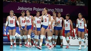 The Philippine volleybelles came to within two points of shocking c...