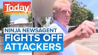 Newsagent belts would-be robbers with karate skills   Today Show Australia