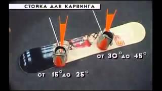 Как правильно настроить угол креплений на сноуборде | Сноуборд уроки для начинающих