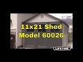 Lifetime Storage Building - 11 x 21 ft. Outdoor Garage Shed 60026