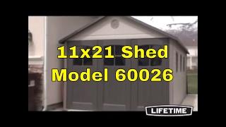 Lifetime Storage Building - 11 X 21 Ft. Outdoor Garage Shed 60026