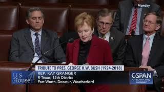 12.10.18 Granger Floor Speech - Commemorating the Life of President George H.W. Bush (1924-2018)