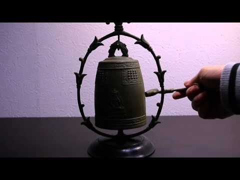 ROSHI Japanese Antique Buddhist Bronze temple bell Vajra Bell esoteric Buddhism