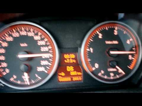 BMW 335d acceleration from 0-260 km/h