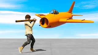 STICK vs. SUPER JETS! MASSIVE SURPRISE!!! (Gta 5 Funny Moments)