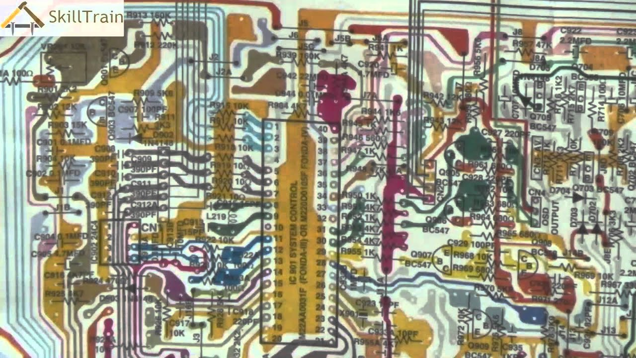 Diagrammatic Representation Of The Pcb Of A Colour Tv