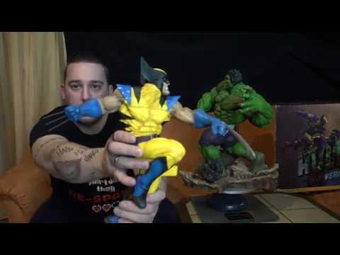 Relic Hunter Team - Sideshow Hulk vs Wolverine maquette