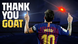 Thank you, Leo Messi, the Greatest Of All Time