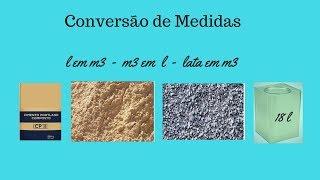 Conversão de Medidas - concreto 25 fck mPa