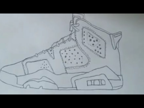 11e0d586c40 How to draw the Jordan 6 Hyperlapae - YouTube
