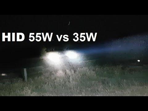 PowaBeam HID 35W Vs 50W Spotlight Comparison